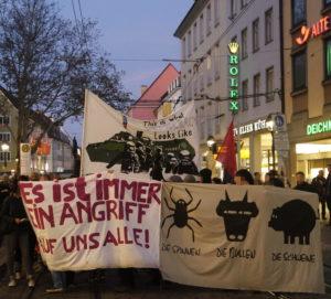 Solidemo in Freiburg, Oktober 2017