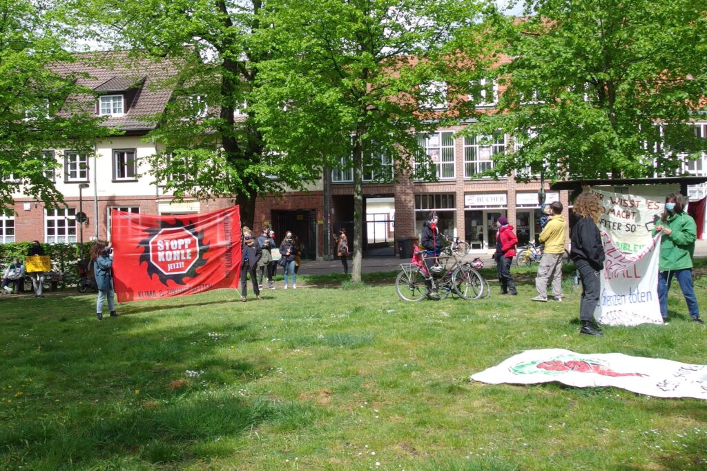 Anti-Kohle Banner