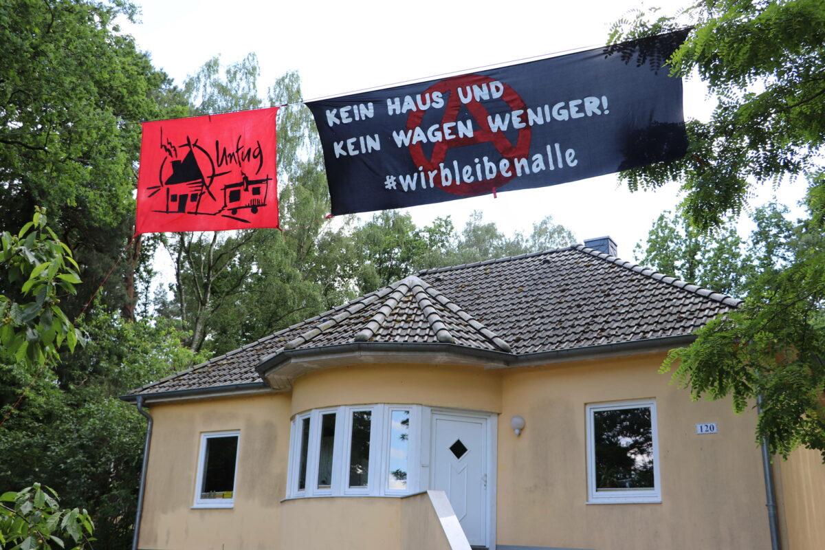 Banner bei Unfug
